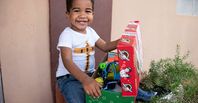 Drop your filled shoeboxes off to the church by Sunday, November 15! image