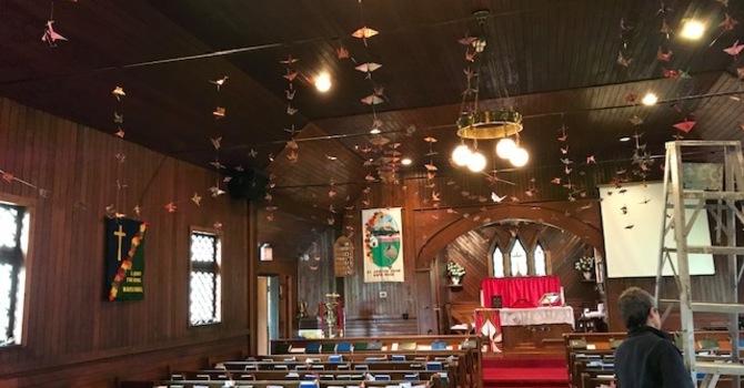 Pentecost Cranes at St. John the Divine, Maple Ridge image
