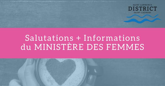 Salutations + Informations du Ministère des Femmes image