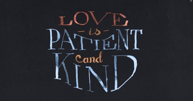 Love is patient, love is kind image