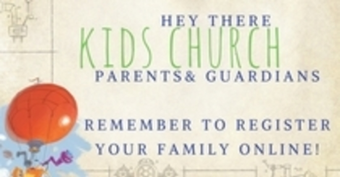 Kids' Church Registration image