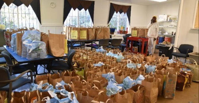 Fill Sacks of Thanksgiving Food for Emmaus House image
