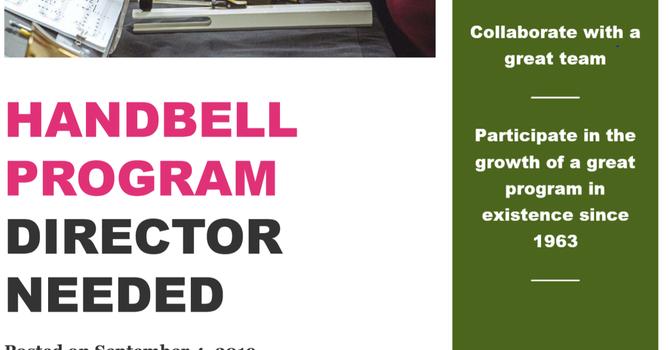 Handbell Choir Program Director Needed image