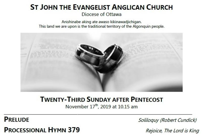 The Twenty-third Sunday after Pentecost