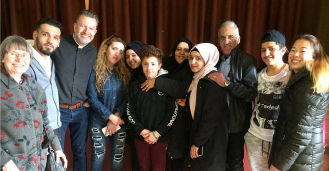 Syrian Refugee Family, Our Guests at Parish Lunch image