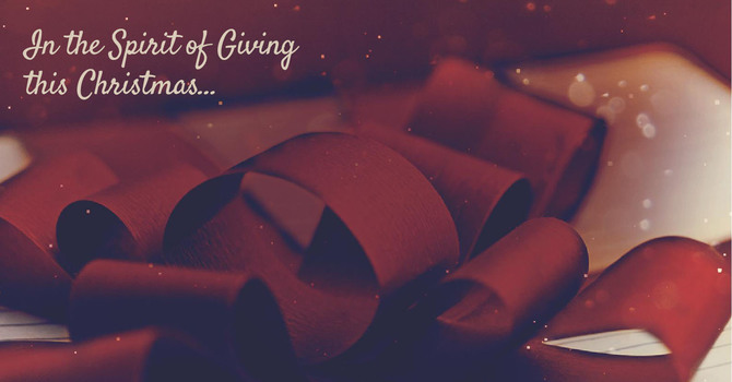 In the Spirit of Giving this Christmas... image