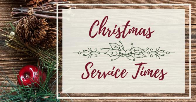 Christmas Service Times image