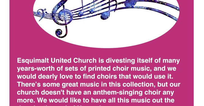 Free Choir Music Galore! image