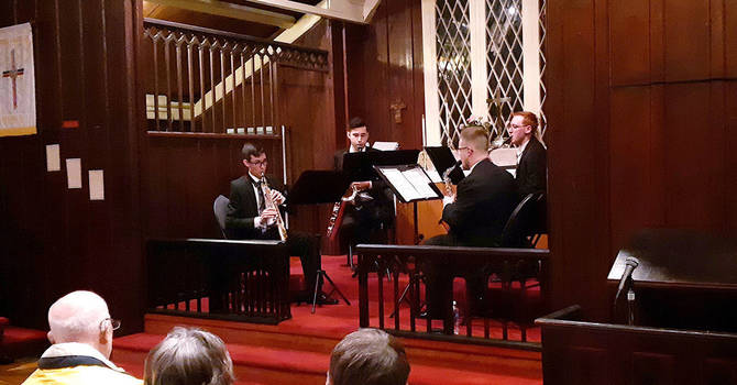 Saxophone Quartet at Christ Church, Hope image