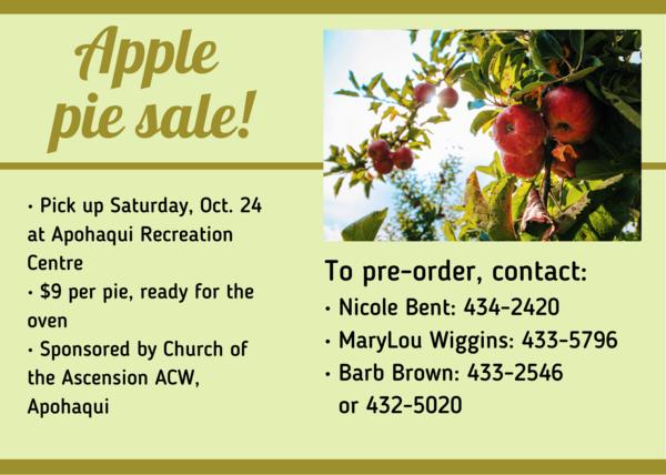 Apple pie sale!
