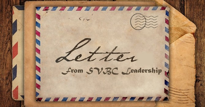 Letter from SVBC Leadership image