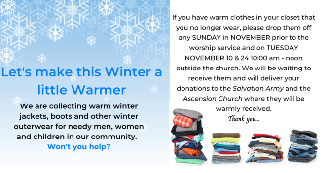Let's Make This Winter A Little Warmer