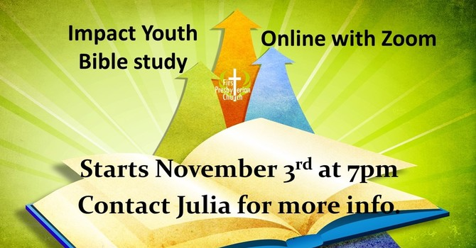 Impact Youth Bible Study, On Line with Zoom