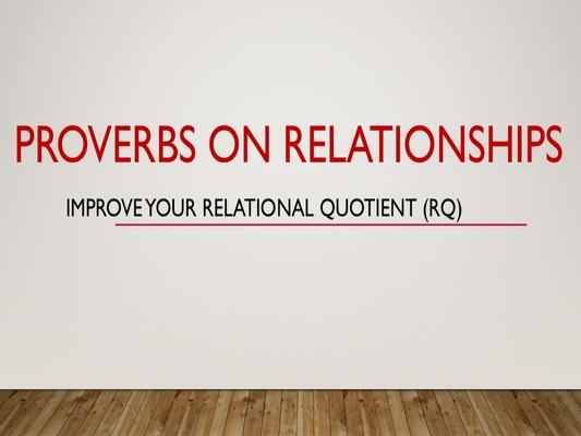 Proverbs on Relationships
