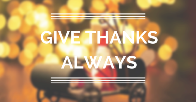 Give Thanks Always image