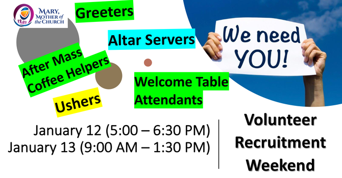 Volunteer Recruitment Weekend