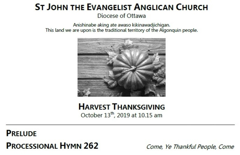 The Eigtheenth Sunday after Pentecost / Harvest Thanksgiving