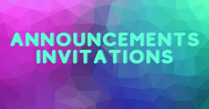 Announcements/Invitations