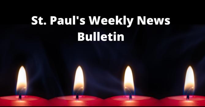 St. Paul's December 8th News Bulletin image