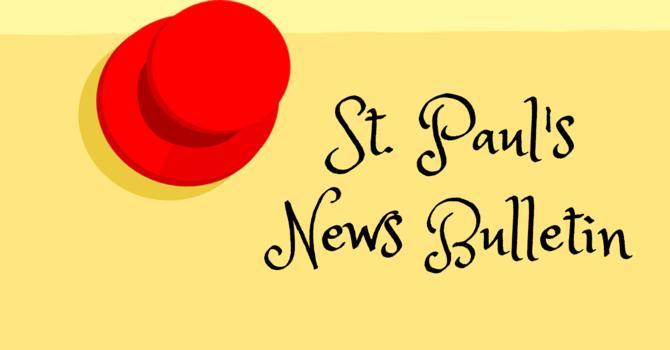 St. Paul's November 3rd News Bulletin image