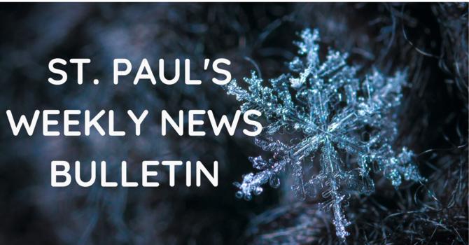 St. Paul's December 1st News Bulletin image