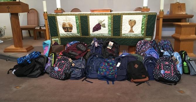 39 Backpacks Donated image