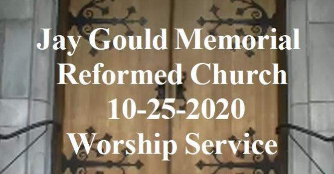 October 25, 2020 Service