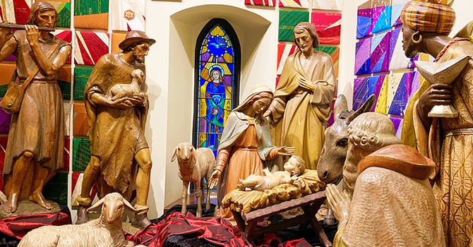 Historic Crèche on Display at CCC image