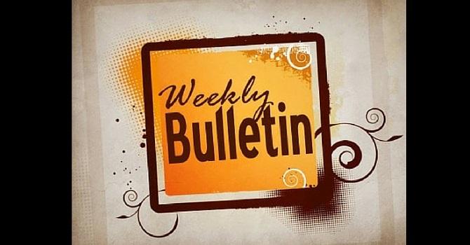 Weekly Bulletin | December 20, 2015 image