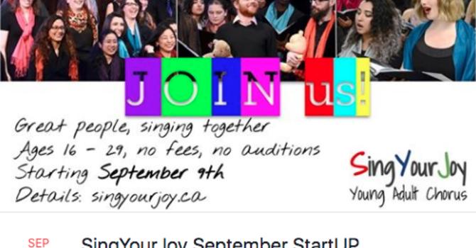 SingYourJoy Young Adult Chorus  image