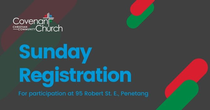 Sunday Service Registration - November 1, 2020 image