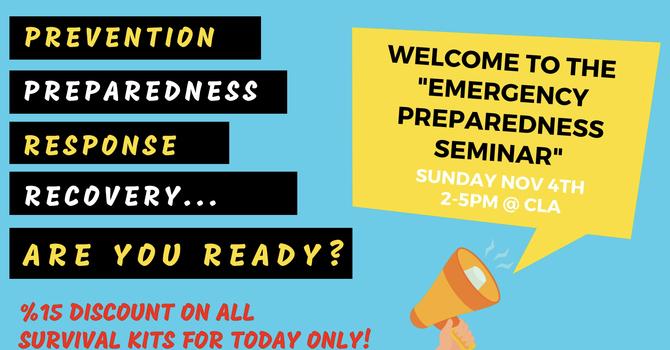 Emergency Preparedness Seminar Success! image