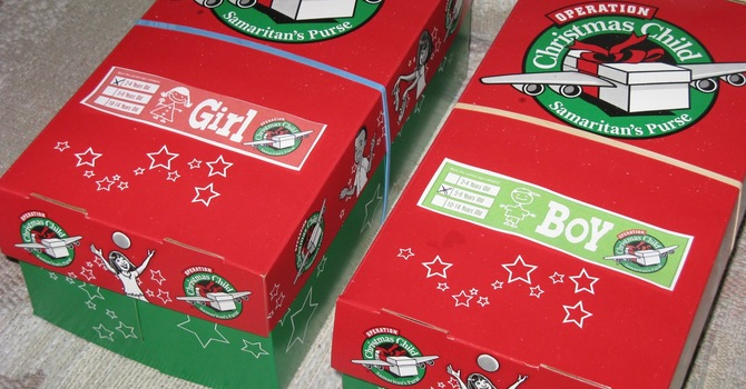 Operation Christmas Child Boxes DUE image