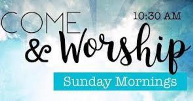 Join us for Worship 'Live' Sundays at 10:30 am on YouTube image