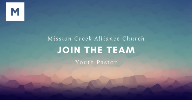 Youth Pastor Position image