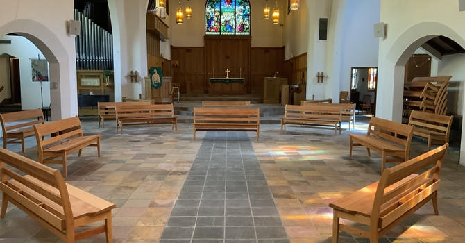 New Pews Have Arrived! image