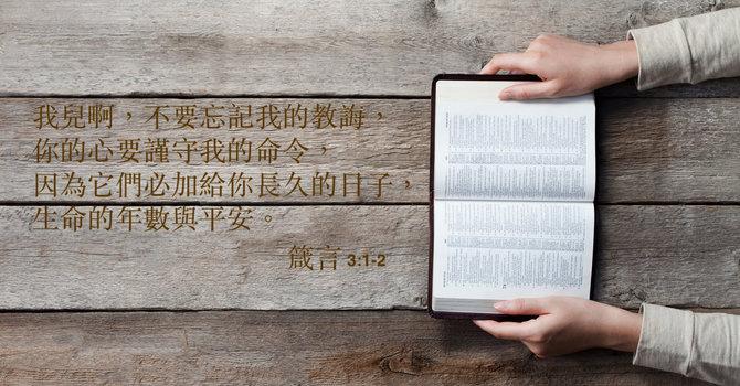箴言 三 1-12節