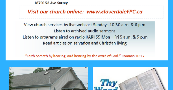Church News - Clovedale FPC image