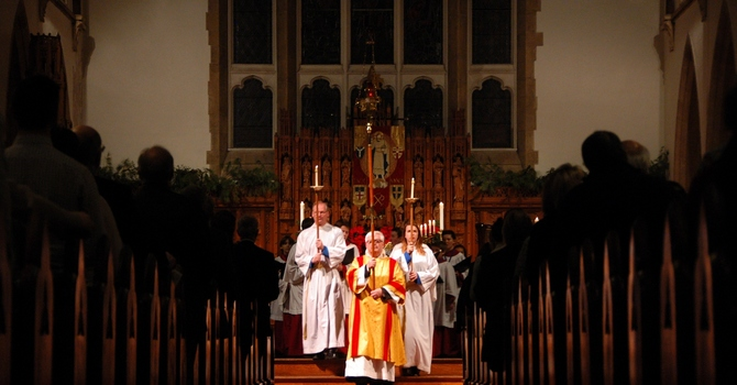 Serving at the Cathedral