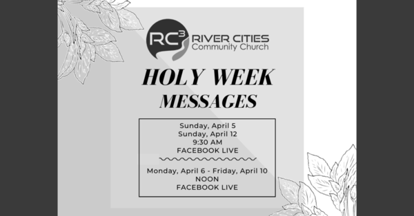 Holy Week Messages