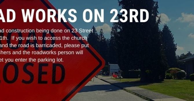 Road Works on 23rd Street until September 11th image