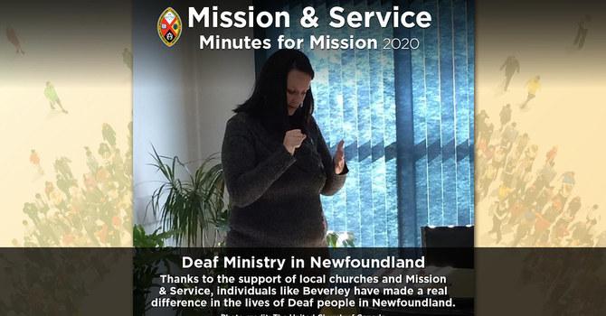 Minute for Mission: Deaf Ministry in Newfoundland image