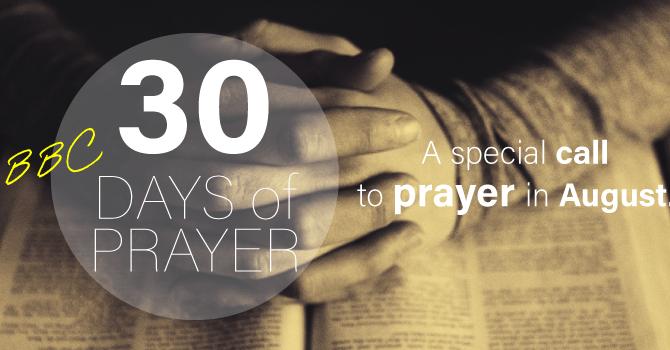 BBC 30 Days of Prayer image