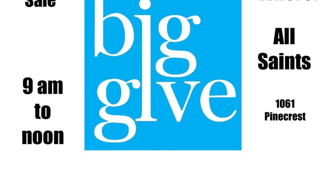 The Big Give  2020— Saturday, June 6, 2020 image