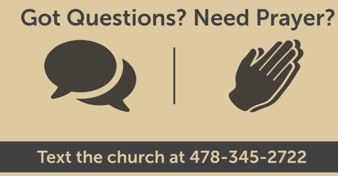 New Way To Connect with the Pastors image