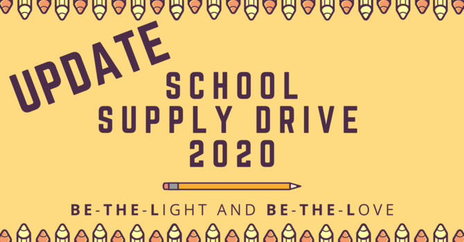 School Supply Drive Update image