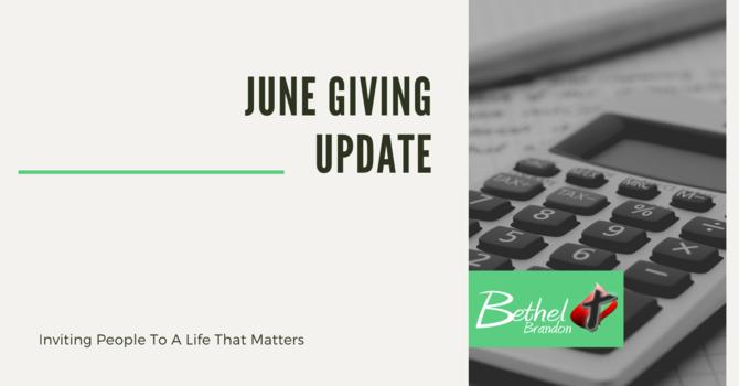 Giving Update: June 2020