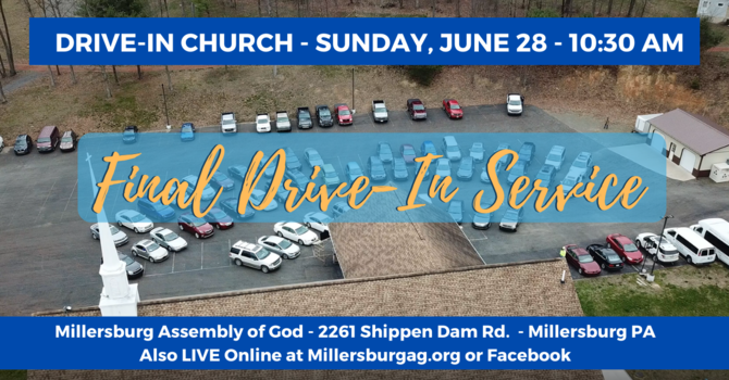 Drive-In Church - June 28th!  image