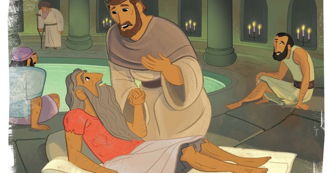 Jesus Healed a Man Who Was Lame image
