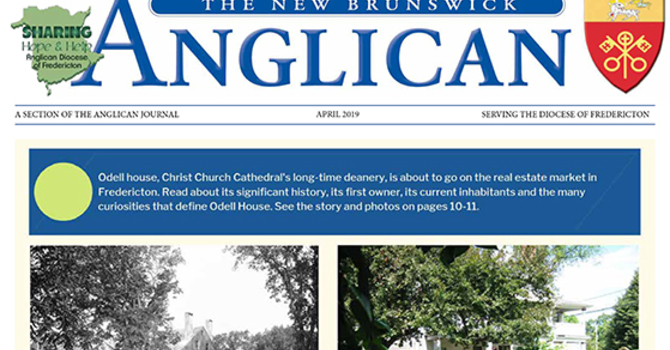 New Brunswick Anglican April 2019 image